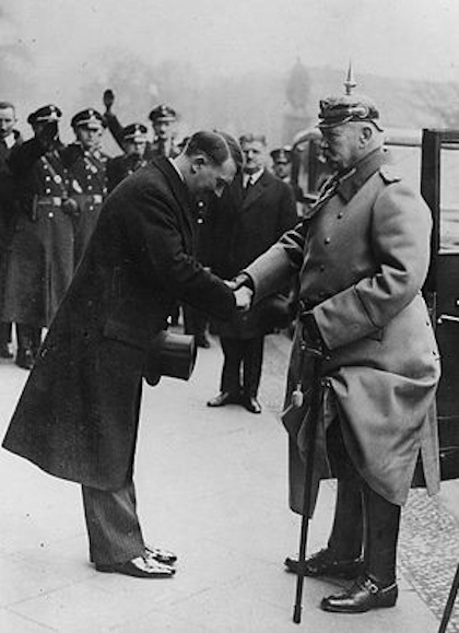 why did hindenburg appoint hitler as